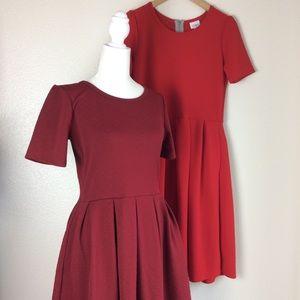 Lularoe Fit and Flare Amelia Dresses (2) Size M
